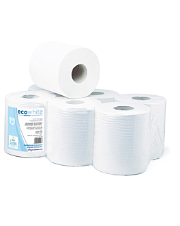 "secamanos ""maxi barril"" ecolabel 2 capas - bobina 1kg 19 g/m2 Ø 19x21,6 cm blanco tissue (6 unid.)"