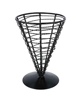 cestoino a cono Ø 12,8x18 cm nero acciaio (1 unitÀ)
