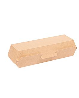 """hot dog"" boxes 'thepack' 220 gsm 23,2x9x6,3 cm natural nano-micro corrugated cardboard (450 unit)"