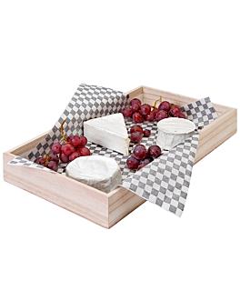 buffet servierkiste 60x40x7,5 cm natur holz (1 einheit)