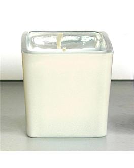 bougie verre 5,1x5,1 cm creme paraffine (12 unitÉ)