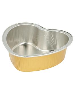 recipientes pastelerÍa 100 ml 8,8x8,8x3 cm oro aluminio (100 unid.)