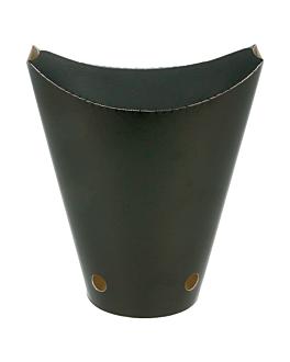 chips cups closed 12 oz - 360 ml 220 + 18pe gsm 6,7x12,5 cm black cardboard (100 unit)