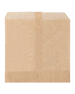 chip greaseproof bags 34 gsm 12x12 cm natural greaseproof parch. (1000 unit)