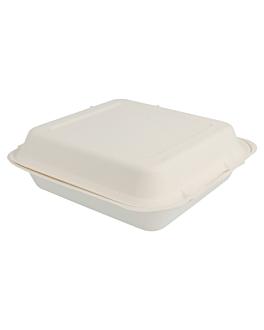 """caixas """"m"""" 'bionic' 20x20x7,5 cm branco bagaÇo (250 unidade)"""