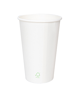 single wall hot drink cups 'biodegradable' 240 ml 260 + 30 pla gsm Ø8/5,6x9,2 cm white cardboard+pla (1000 unit)