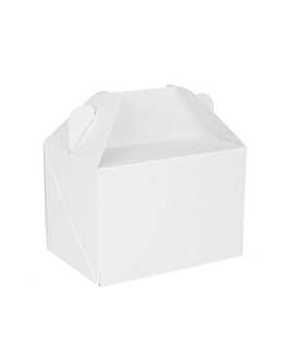 cases for take away meals 'thepack' 230 gsm 18x12x9 cm white nano-micro corrugated cardboard (100 unit)