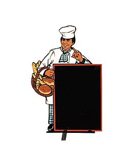 """cartelera exterior """"panaderia"""" 103x153 cm negro madera (1 unid.)"""