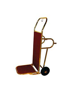 diable porte valises luxe 120x58x83 cm dore laiton (1 unitÉ)