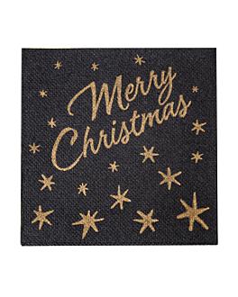 """servilletas """"double p."""" ecolabel 'merry christmas' 18 g/m2 20x20 cm negro tissue (2400 unid.)"""