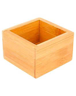 kiste fÜr buffet 8x8x5 cm natur bambus (1 einheit)