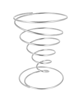 baskets Ø 10x18 cm silver stainless steel (1 unit)