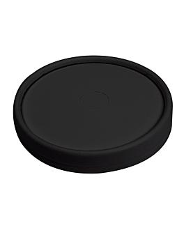 couvercles pour gobelets 280 g/m2 + pe Ø 9 cm noir carton (1000 unitÉ)