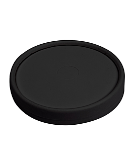 lids for cups 280 gsm + pe Ø 9 cm black cardboard (1000 unit)