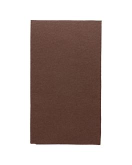 servilletas ecolabel p. 1/6 'double point' 18 g/m2 33x40 cm chocolate tissue (2000 unid.)