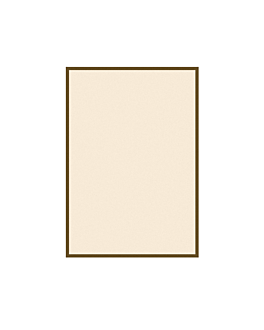 sheets for menu holders - brown border 130 gsm 15,3x21 cm ivory cardboard (100 unit)