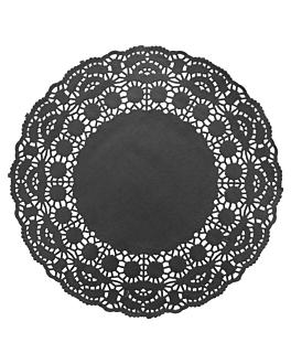dentelles rondes ajourÉes 40 g/m2 Ø 24 cm noir papier (250 unitÉ)