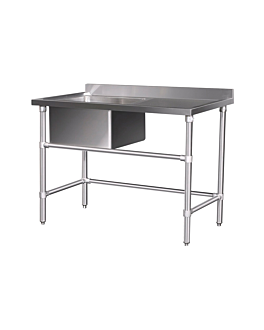 pre-washing table 120x60x96 cm silver stainless steel (1 unit)