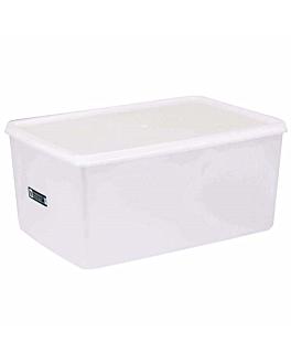 recipiente alimentos + tapa incorporada 9650 ml 34,5x23x16 cm blanco pp (1 unid.)