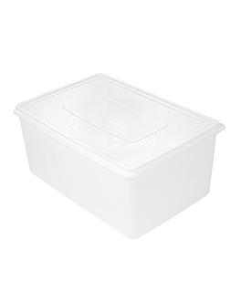 rÉcipient aliments + couvercle incorporÉ 9650 ml 34,5x23x16 cm blanc pp (1 unitÉ)
