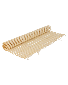 sushi tablemat 24x24 cm natural bamboo (50 unit)