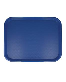 fast food tray 35,5x45,3 cm blue pp (1 unit)
