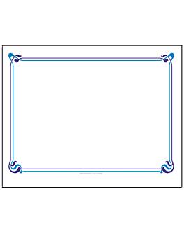 sets de table bleu ciel & cÉleste 'maxim' 48 g/m2 31x43 cm blanc cellulose (2000 unitÉ)