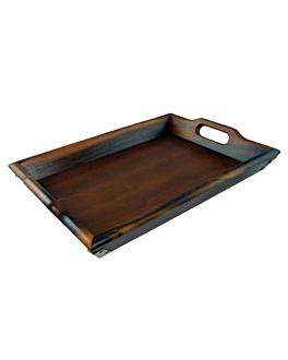 bandejas de luxo 64x38x5 cm natural madeira (4 unidade)