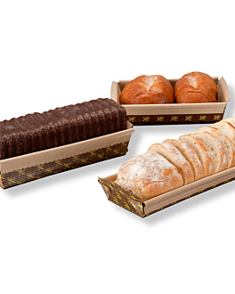bakery cooking molds - laminated 24x8x7 cm brown paper (240 unit)