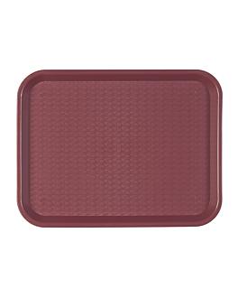 fast food tray 30,4x41,4 cm burgundy pp (1 unit)