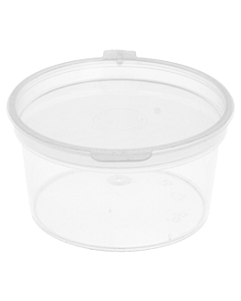 small containers + incorporated lid 30 ml Ø5/4x2.7 cm clear pp (1000 unit)