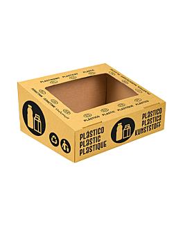 tapa envases 38,4x31,1x12 cm amarillo cartÓn (10 unid.)