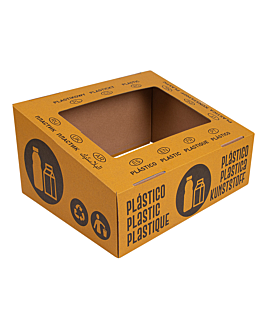 container lids 38,4x31,1x12 cm yellow cardboard (10 unit)
