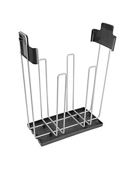 soporte bolsas compostables 27x13x39 cm plateado (1 unid.)