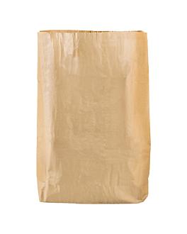 sacs corbeilles de chambre 15 l 70 g/m2 26+20x46 cm naturel kraft (400 unitÉ)