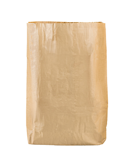 bags for room bin 15 l 70 gsm 26+20x46 cm natural kraft (400 unit)