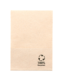 ecolabel napkins 1 ply 'mini servis' 23 gsm 17x17 cm natural recycled tissu (9600 unit)