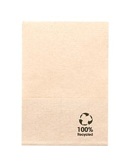 servilletas ecolabel 1 capa 'mini servis' 23 g/m2 17x17 cm natural tissue reciclado (9600 unid.)