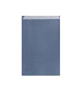 bolsas planas 12+5x18 cm azul marino kraft verjurado (250 unid.)