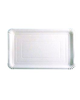 plateaux pÂtisserie - moyens 45,5x34 cm blanc carton (25 unitÉ)