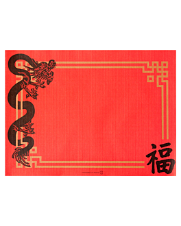 table mats 'china' 48 gsm 31x43 cm red cellulose (2000 unit)