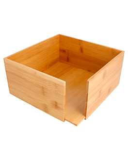 napkin holder 21x21x10 cm natural bamboo (1 unit)