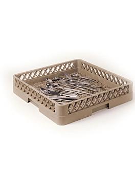 rack lavastoviglie per posate 50x50x10 cm beige pp (1 unitÀ)