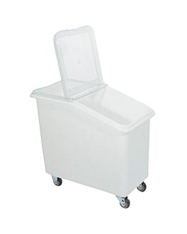 contenedor alimentario 99 l 75x41x74 cm blanco policarbonato (1 unid.)
