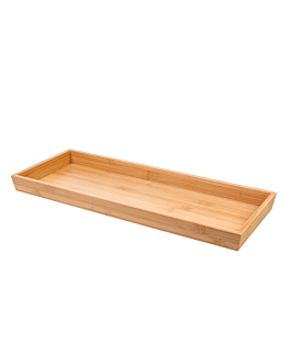 trays 45,7x17,8x3,2 cm natural bamboo (10 unit)