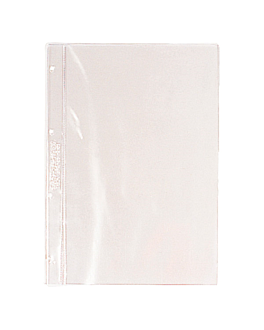 6 u. sleeves for code 180.80 16,2x21 cm clear pvc (1 unit)