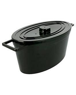 ollas cocotte 2500 ml 31x15x12 cm negro policarbonato (5 unid.)