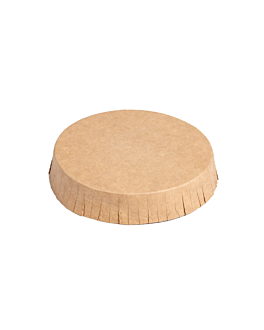 glass lids for hotel room 225 gsm Ø6,9x1,5 cm natural kraft (1000 unit)