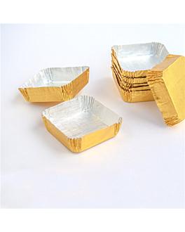 pirottini 'petits fours' 5x5x1,5 cm oro alluminio (600 unitÀ)