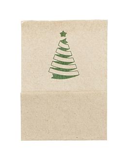"servilletas mini servis ""christmas"" 1 capa 23 g/m2 17x17 cm natural tissue reciclado (9600 unid.)"